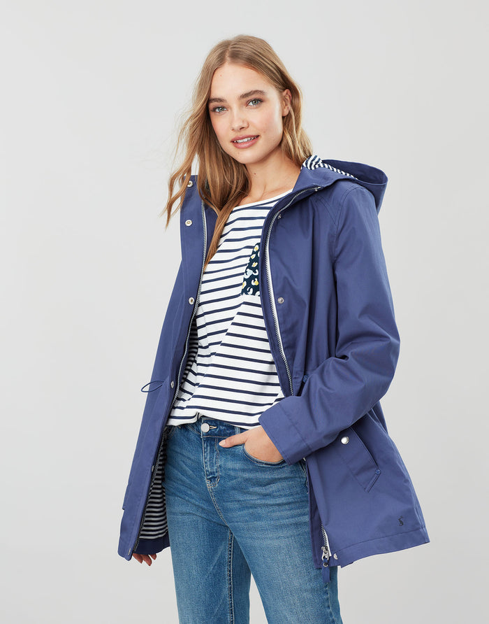 Joules Waterproof A-Line Coat - Blue