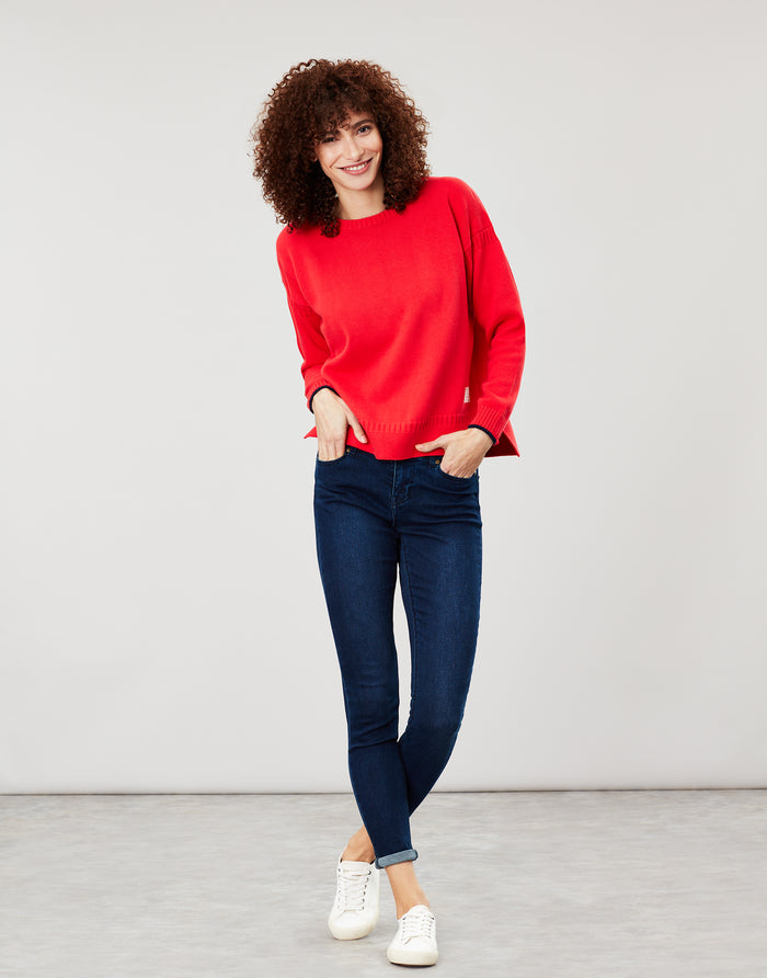 Joules Luciana Boxy Jumper - Red
