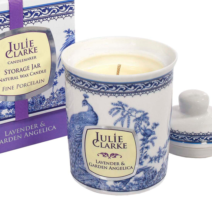 Lavender and Garden Angelica Peacock Candle