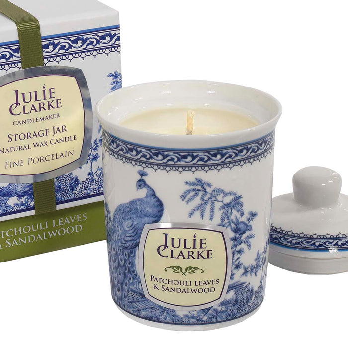 Patchouli Leaves & Sandalwood Peacock Candle