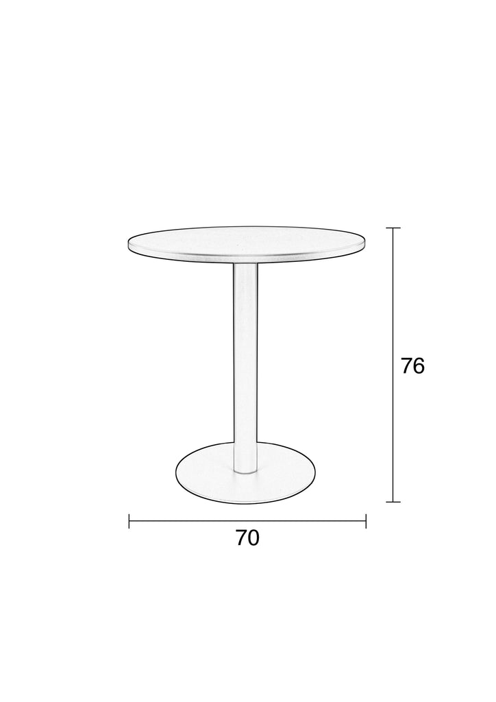 Bistro Table Metsu - Light Grey