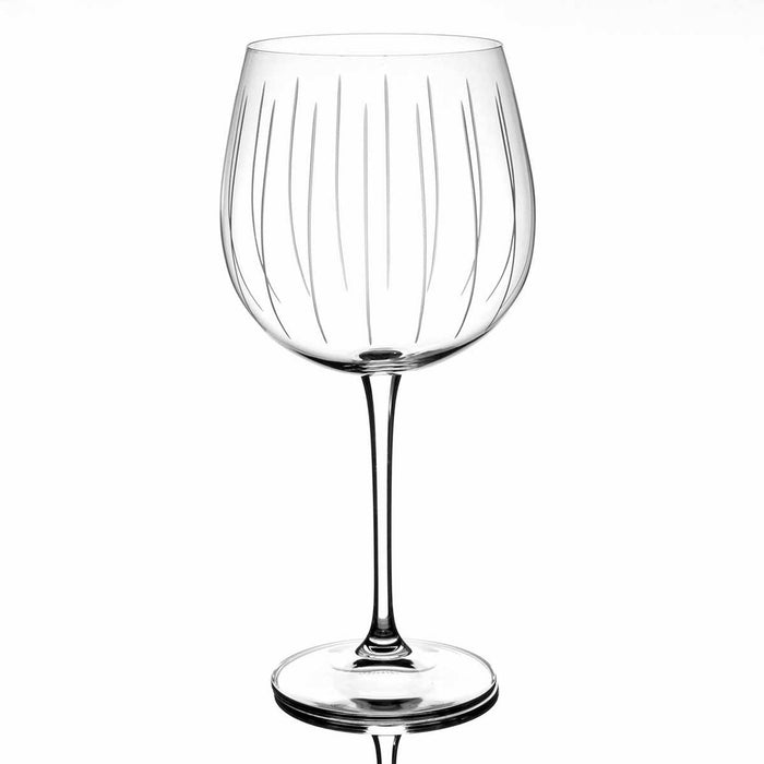Vertical Cut Set of 4 Gin Glasses