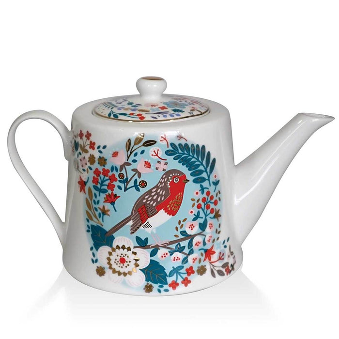 Tipperary Birdy Robin & Blue Tit - Tea Pot