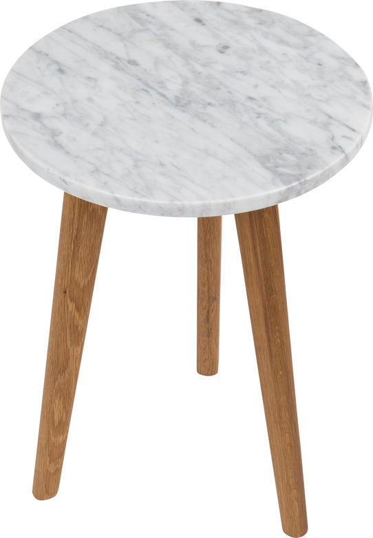 Small Stone Side Table - White