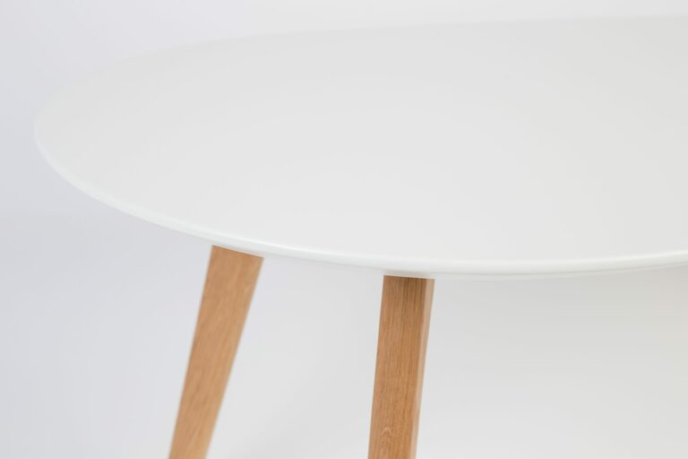 White & Oak Set of Tables