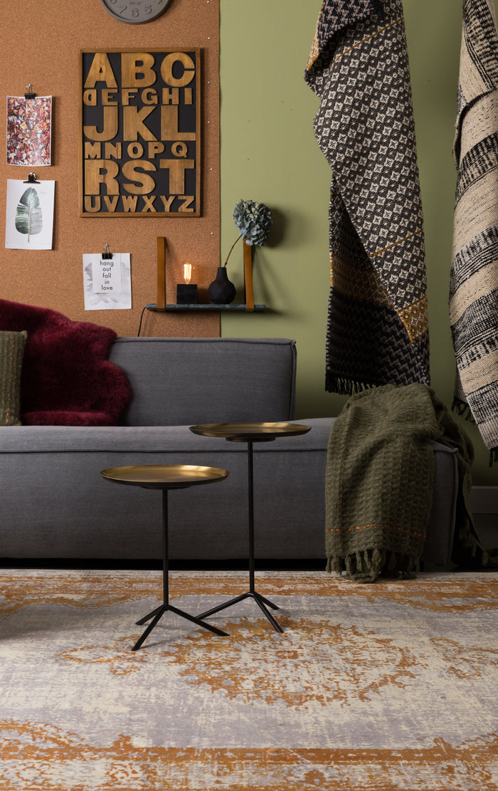 Set of 2 Trip Side Table - Brass
