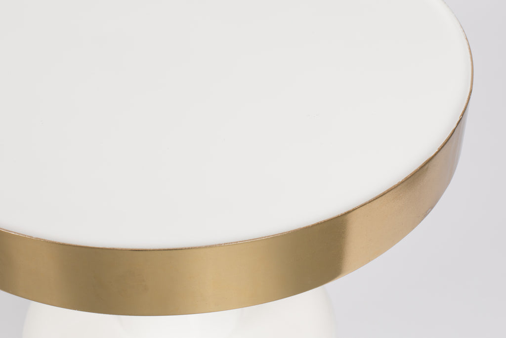 Glam Side Table - White