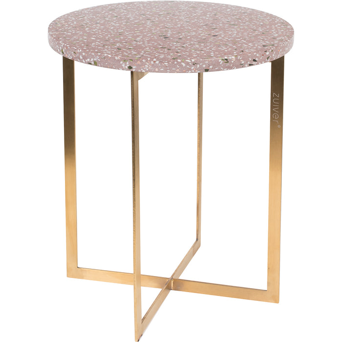 Luigi Round Side Table - Pink