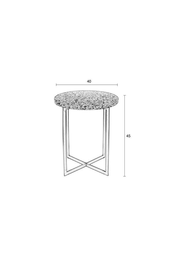 Luigi Round Side Table - White
