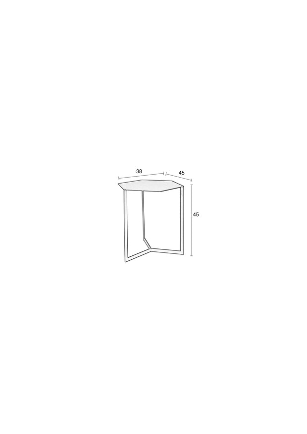 Matrix Side Table - Light Grey