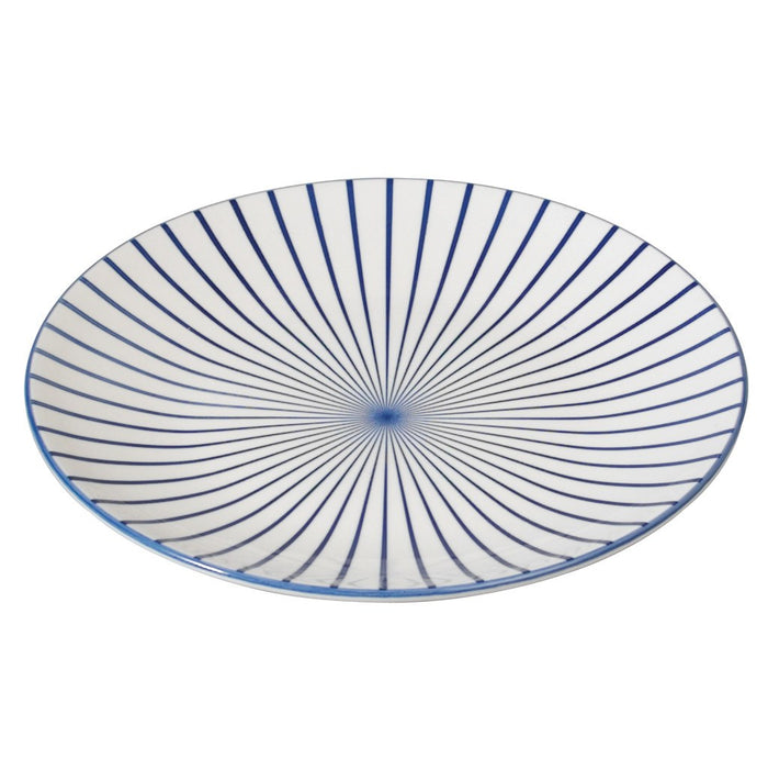Japanese Dinner Plate Cobalt Sunburst
