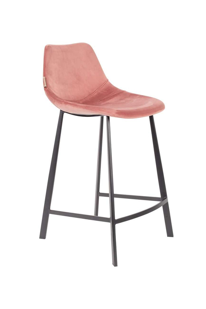 Franky Counter Stool - Velvet Old Pink