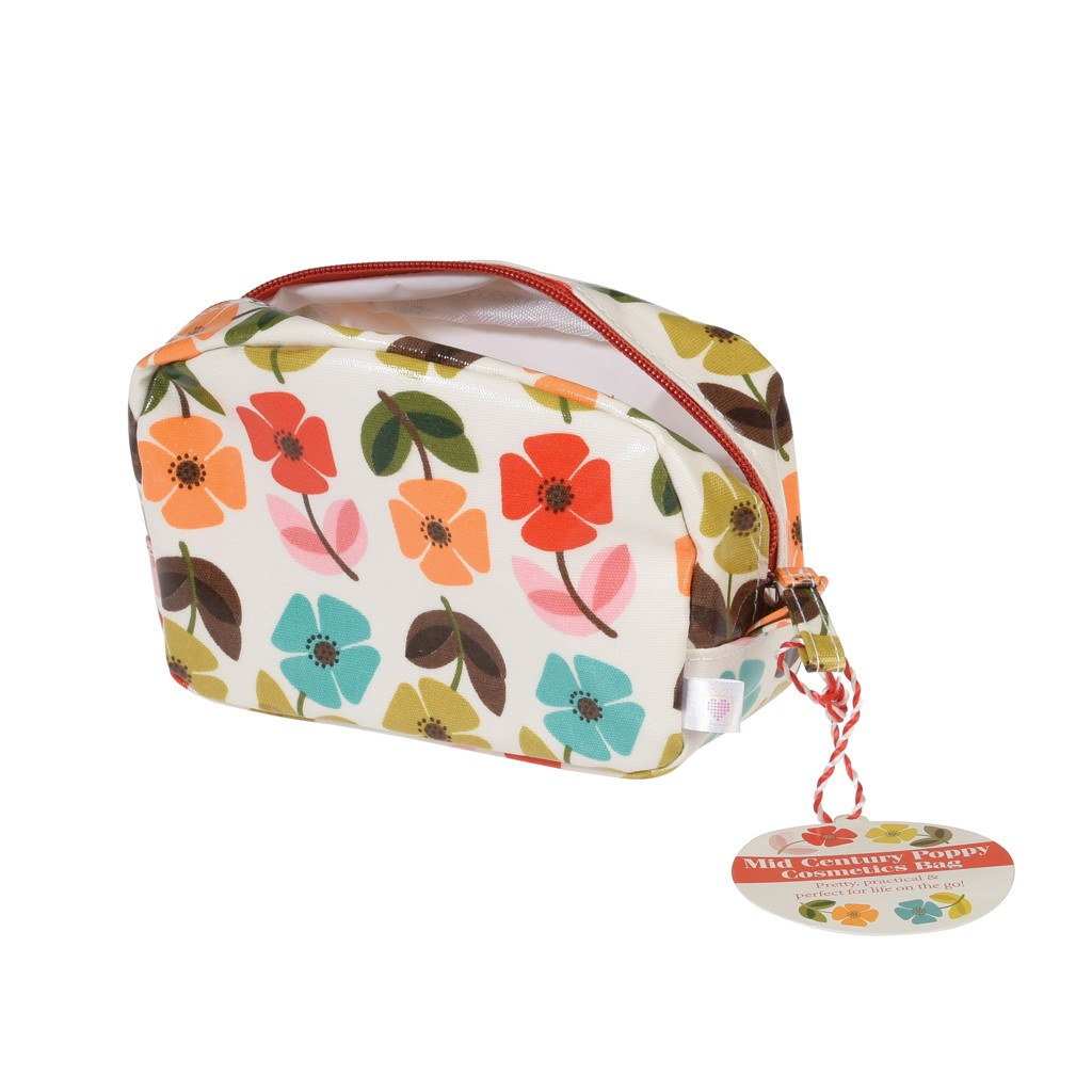 Mid Century Poppy Make Up Bag