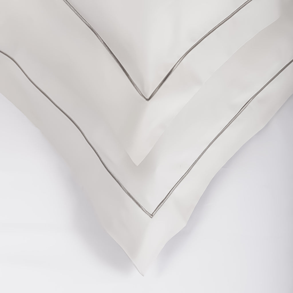 Mother of Pearl with Satin Stitch Oxford Pillowcase -  Pair