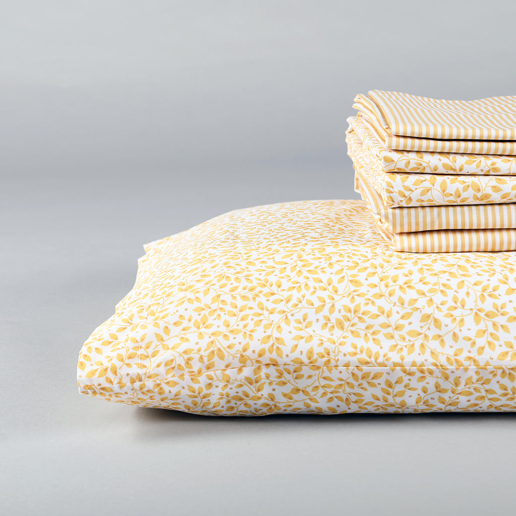 The Yellow Leaf Duvet Set
