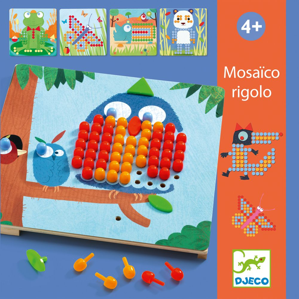 Animal Mosaic - Wooden Pegboard Toy