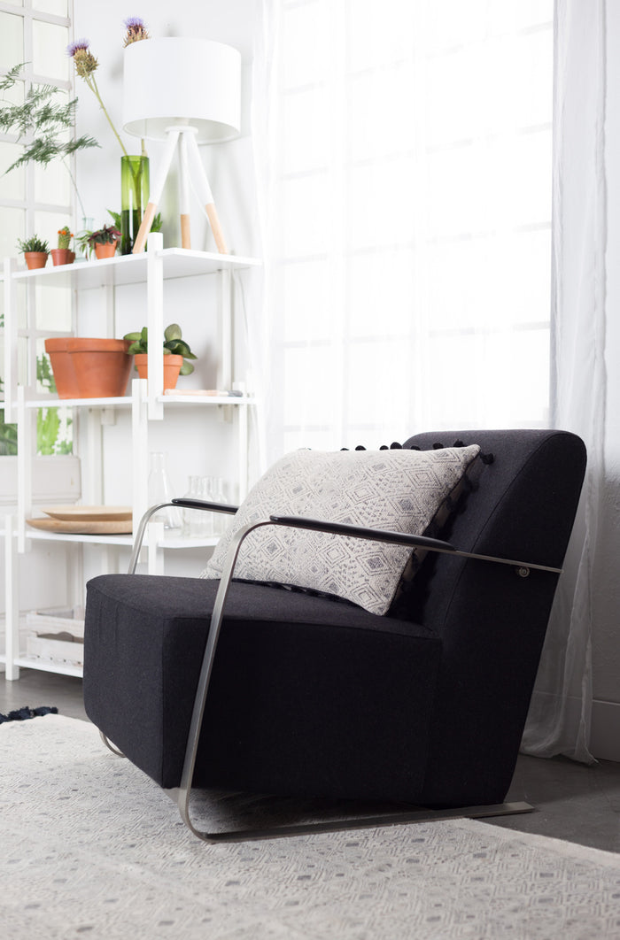 Adwin Lounge Chair - Felt Black