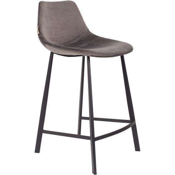 Franky Counter Stool - Velvet Grey