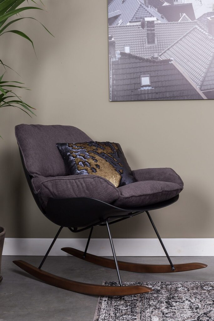 Lana Rocking Lounge Chair -Dark Grey