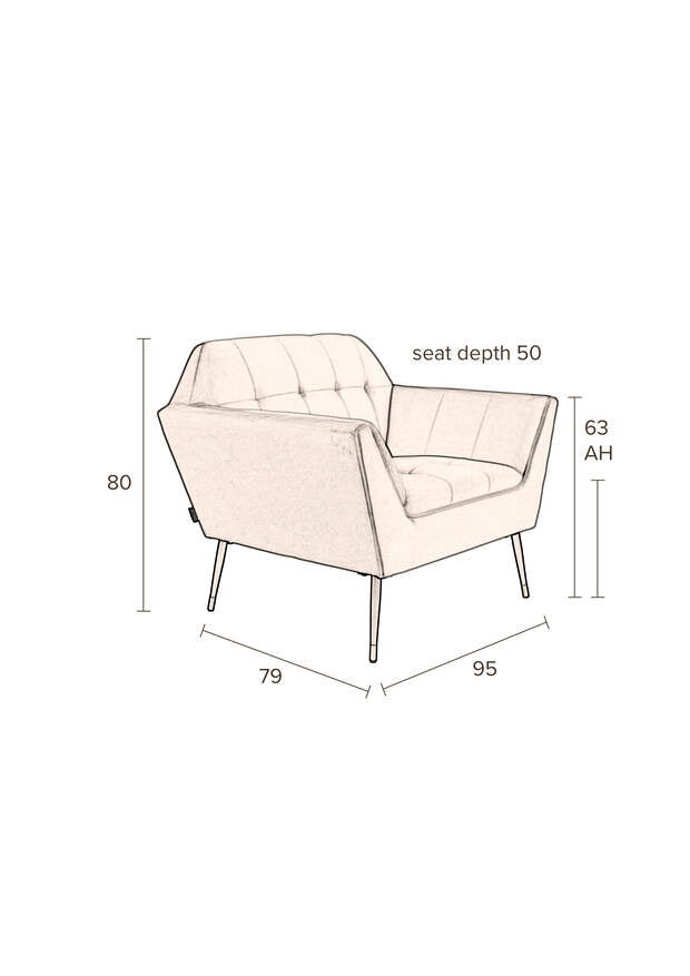 Kate Lounge Chair - Pink Clay