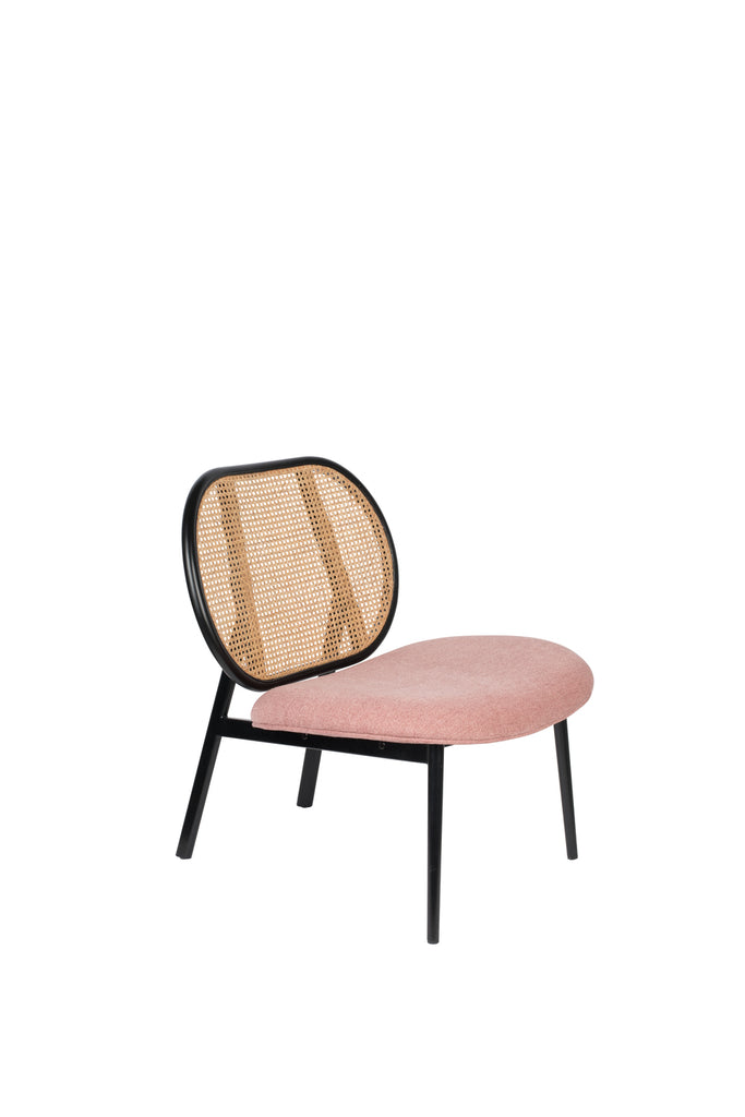 Spike Lounge Chair - Pink & Natural