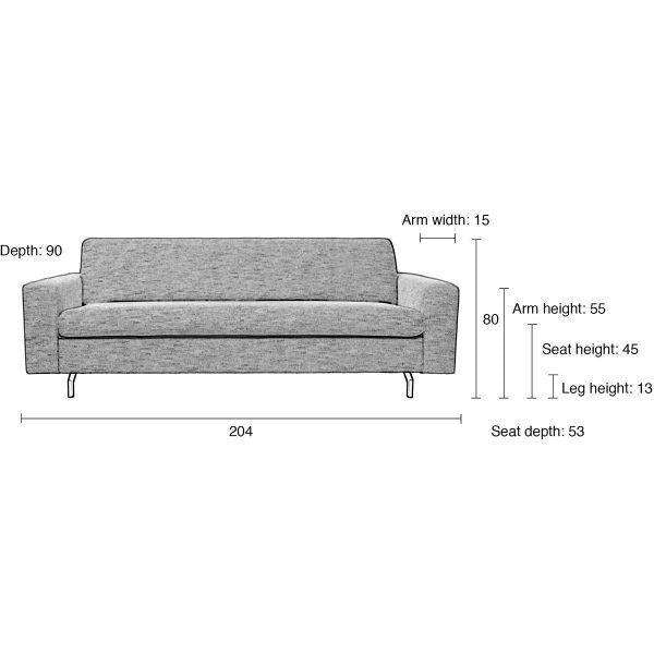 2.5 Jean Seater Sofa - Anthracite