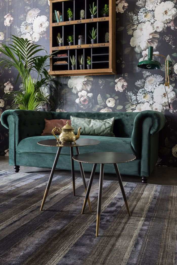 Chester Velvet Sofa - Dark Green