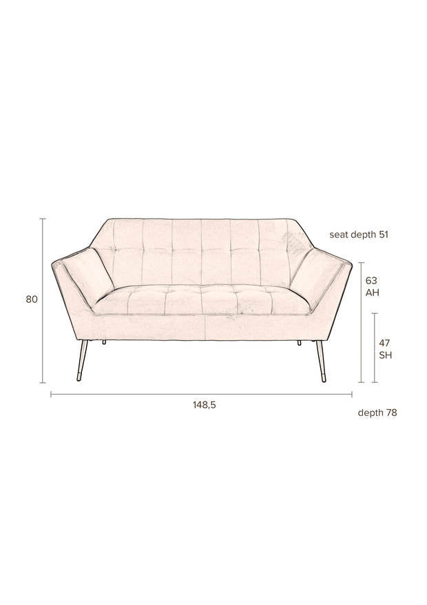 Clay Kate Sofa - Pink