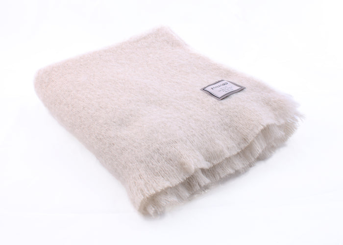 Foxford's Sand Mohair Throw
