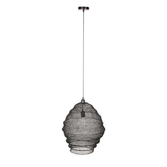 Large Mesh Metal Lamp - Black