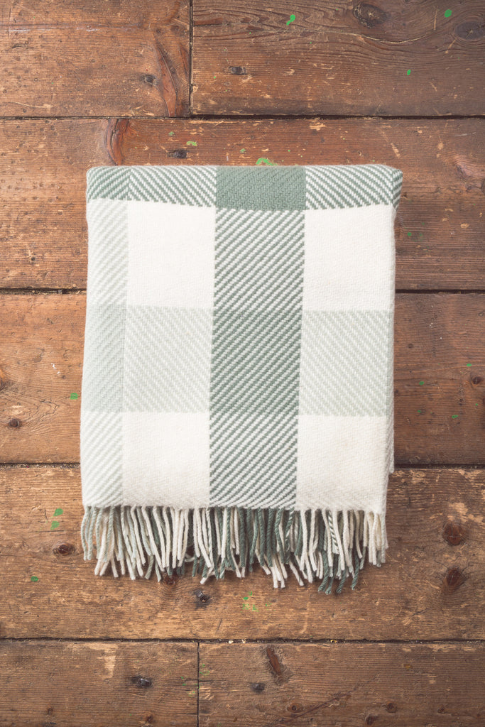 Aqua Dublin Check Throw