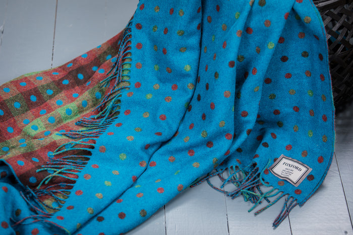 Turquoise Multi Spot Throw