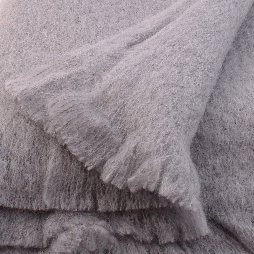 Grey Mohair Throw