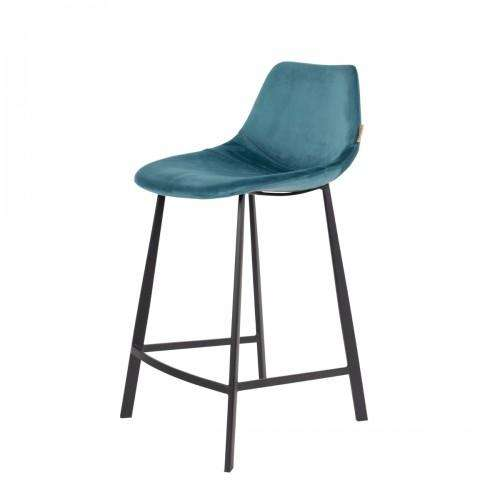 Franky Counter Stool - Velvet Petrol