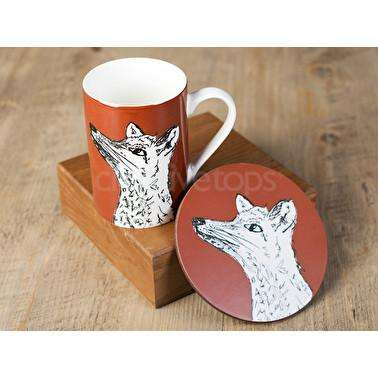 Fox Mug and Coaster Set