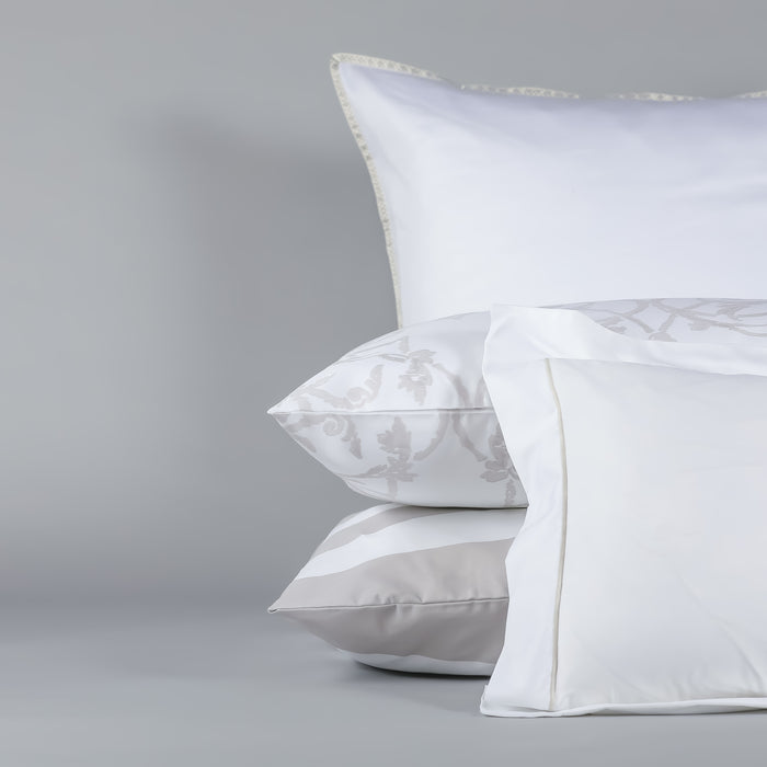 White Oxford Satin Stitch Square Pillowcase