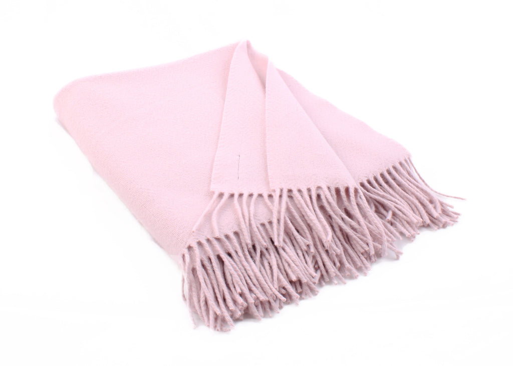 Whisper Pink Cashmere Throw