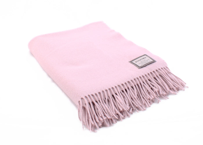 Foxford's Whisper Pink Cashmere Throw