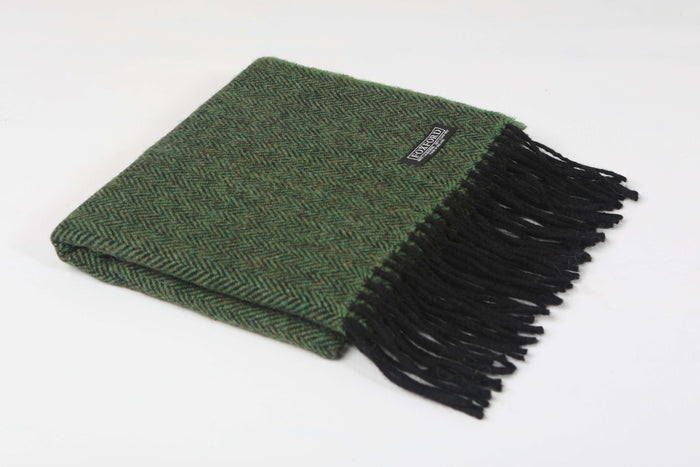BLACK/LEAF Herringbone STOLE