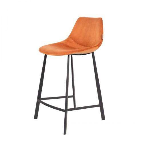 Franky Counter Stool - Velvet Orange