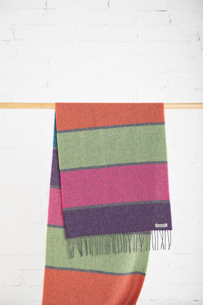 Large Contemporary Stripe Scarf
