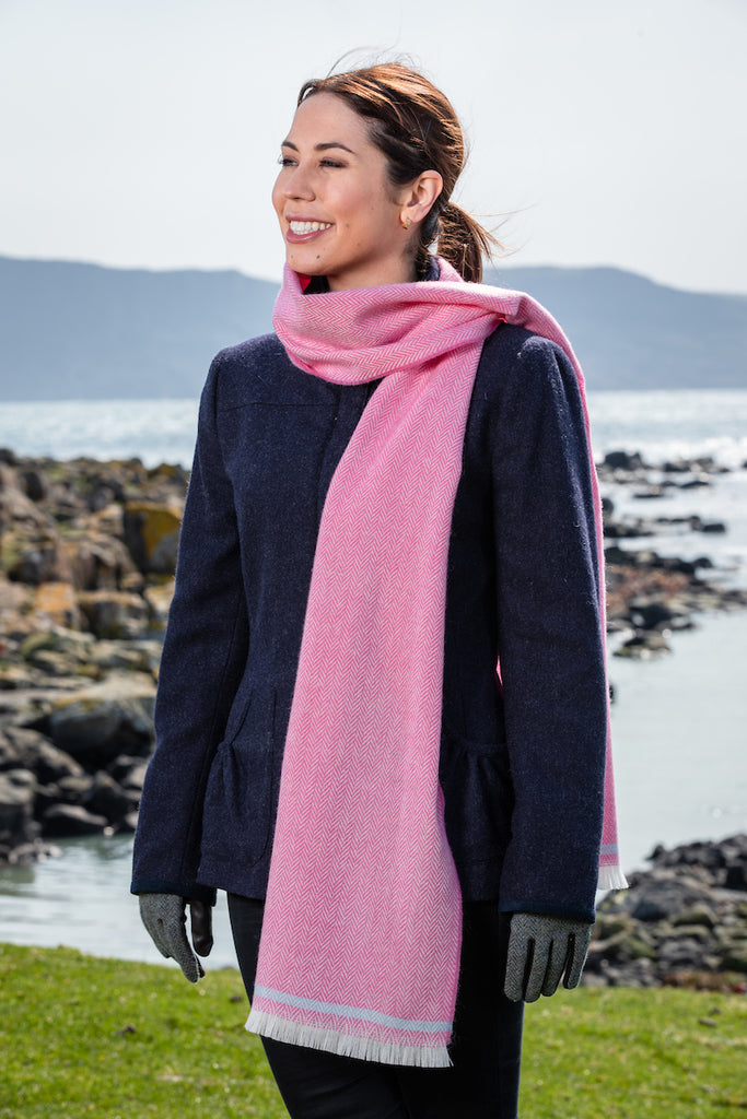 Cerise & Willow Blue Scarf