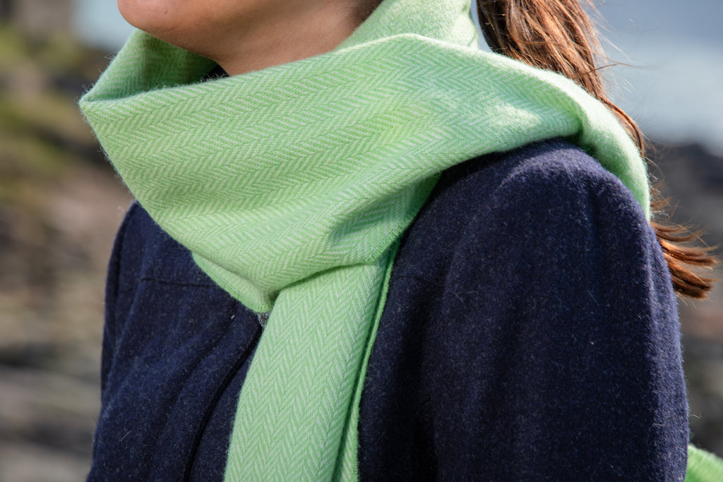 Grass and White Scarf