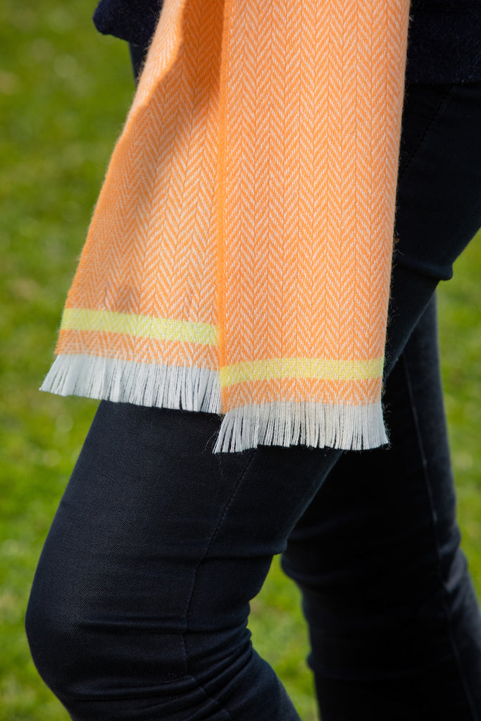 Barcelona Orange & English Yellow Scarf