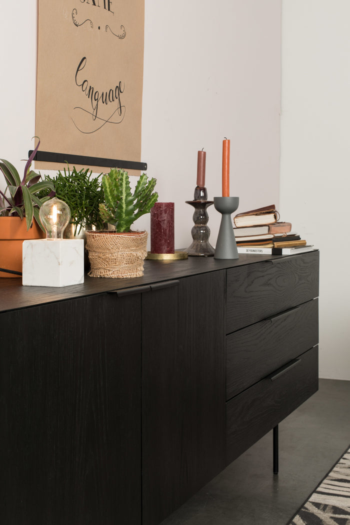 Oak Travis Sideboard - Black