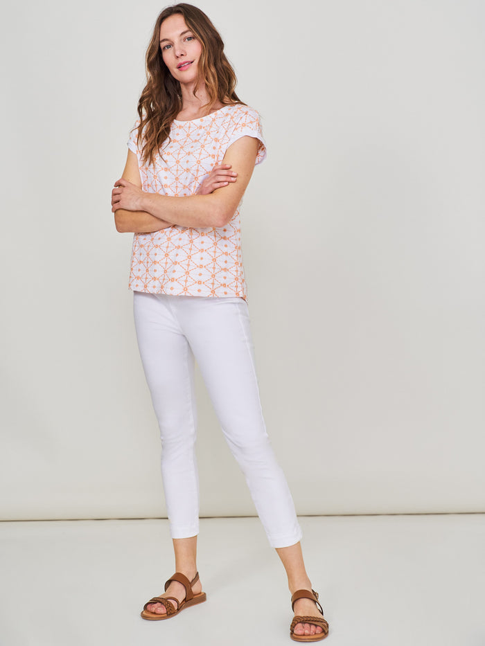 White Stuff - Jade Jegging Crop White