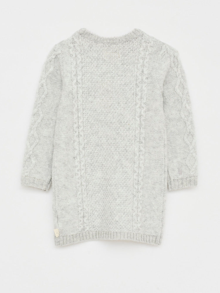 White Stuff Cosy Cable Pom Jumper Dress