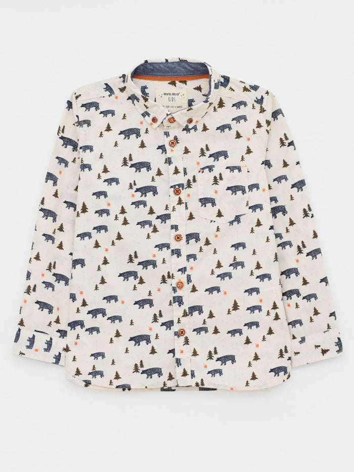 White Stuff Bear With Me Printed Shirt