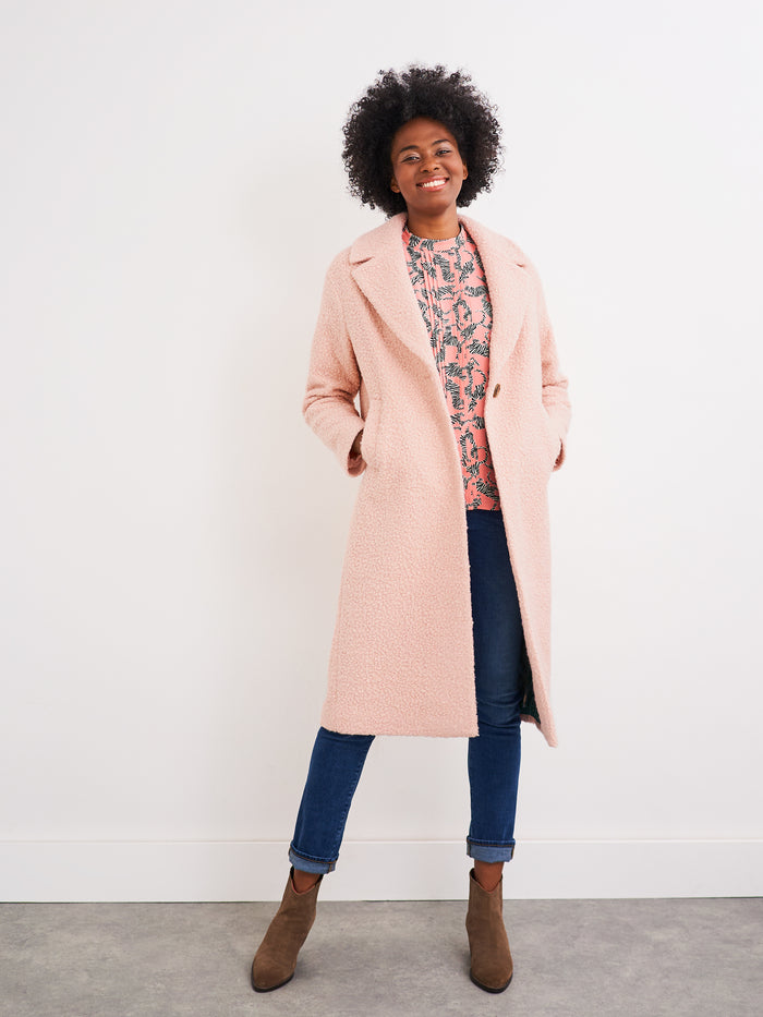 White Stuff Boucle Midi Coat