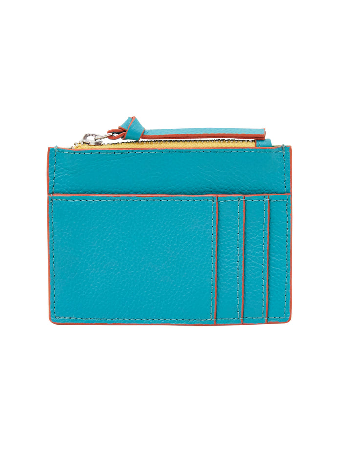 White Stuff Slogan Cardholder - Teal